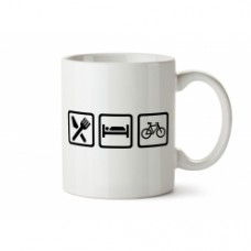 Caneca Eat-Sleep-Ciclismo